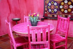 Colorful Moroccan room Royalty Free Stock Photography