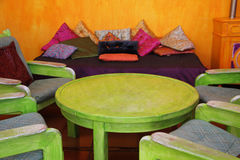 Colorful Moroccan room Stock Photo