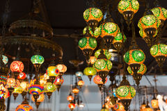 Colorful Moroccan style lanterns Royalty Free Stock Photos