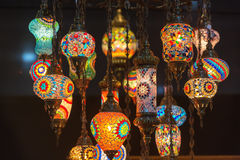 Colorful Moroccan style lanterns Royalty Free Stock Photography
