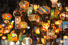 Colorful Moroccan style lanterns Royalty Free Stock Images