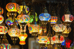 Colorful Moroccan style lanterns Stock Photos