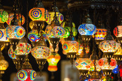 Colorful Moroccan style lanterns Royalty Free Stock Photo