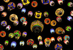 Colorful Moroccan style lanterns lamp Royalty Free Stock Photography