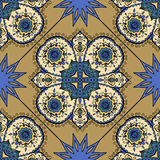 Colorful Moroccan tiles ornaments. Can be used for. Wallpaper, pattern fills, web page background, surface textures. Vector illustration Royalty Free Stock Photography