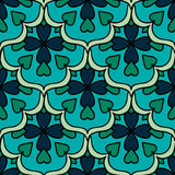Colorful Moroccan tiles ornaments. Can be used for. Wallpaper, pattern fills, web page background, surface textures. Vector illustration Stock Images