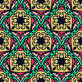 Colorful Moroccan tiles ornaments. Can be used for. Wallpaper, pattern fills, web page background, surface textures. Vector illustration Royalty Free Stock Images