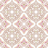 Colorful Moroccan tiles ornaments. Can be used for. Wallpaper, pattern fills, web page background, surface textures. Vector illustration Royalty Free Stock Image