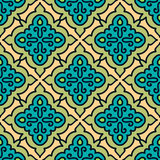 Colorful Moroccan tiles ornaments. Can be used for. Wallpaper, pattern fills, web page background, surface textures. Vector illustration Stock Photos