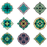 Colorful Moroccan tiles ornaments. Can be used for. Wallpaper, pattern fills, web page background, surface textures. Vector illustration Stock Photography