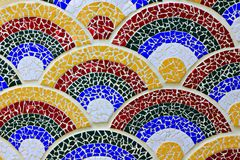 The Colorful mosaic. The Colorful ceramic tiles wall decoration background texture Stock Images