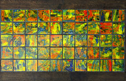 Colorful mosaic. Background on table Stock Photos