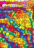Colorful mosaic abstract vector polygon background A4 format.  stock illustration