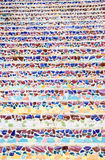 Colorful  mosaic art  abstract wall background Stock Photo