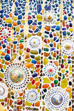 Colorful  mosaic art  abstract wall background Royalty Free Stock Photos