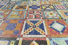 Colorful mosaic. Art Design The mosaic on the wall surface Stock Image