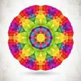 Colorful Mosaic Background. Round composition with geometric shapes stock illustration