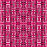 Colorful mosaic background. Pink triangle wallpaper Stock Photos