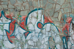 Colorful mosaic background, street graffiti, Stock Images