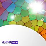 Colorful mosaic background with sunburst flare Royalty Free Stock Photo