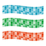 Colorful mosaic banner Stock Images