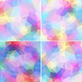 Colorful mosaic banner set Stock Photo