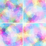 Colorful mosaic banner set Stock Photos
