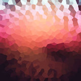Colorful mosaic banner for your design. Geometric retro backgrou. Nd. Honeycomb with gradient background. Sunset red bokeh texture Stock Photography