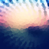 Colorful mosaic banner for your design. Geometric retro background. Honeycomb with gradient background. Sunset bokeh texture Royalty Free Stock Photography