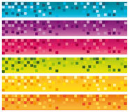 Colorful mosaic banners set. 728x90 for commercial use Stock Image