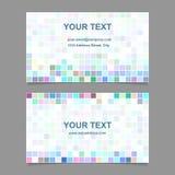 Colorful mosaic business card template design. Colorful digital art mosaic business card template design Stock Photos