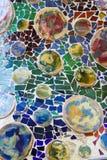 Colorful mosaic in casa Batllo, by Antoni Gaudi Stock Photography