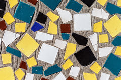 Colorful mosaic ceramic  tiles wall decoration Stock Photography