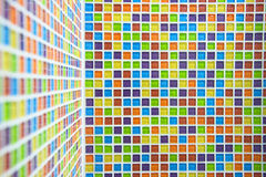 Colorful mosaic ceremic background on wall Royalty Free Stock Image