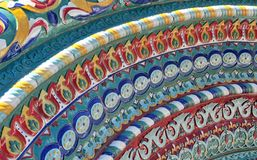 Colorful mosaic of the chathedral of Yaroslavl Royalty Free Stock Images