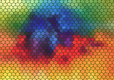 Colorful mosaic composition with ceramic shapes Stock Photography