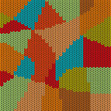 Colorful mosaic cross stitch pattern background. Stock Photography