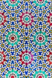 The colorful of mosaic of Dar Lmakhzen in Fes, Morocco Stock Images