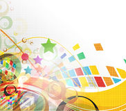 Colorful mosaic design Stock Images
