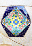 Colorful mosaic in famous Parc Guell Stock Image
