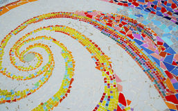 Colorful mosaic floor Stock Photography