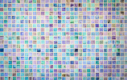 Colorful mosaic glass tile wall Stock Images