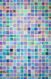 Colorful mosaic glass tile wall Royalty Free Stock Photo