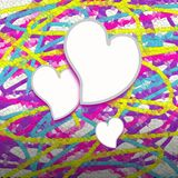 Colorful mosaic hearts Royalty Free Stock Photos