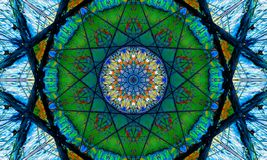 Colorful mosaic mandala Art with star-shaped patterns. And a beautiful abstract design vector illustration