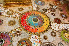 Colorful mosaic mandalas on the floor of the temple, at Pha Sorn Kaew, in Khao Kor, Phetchabun, Thailand. Colorful mosaic mandalas on the floor of the temple stock image
