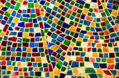 colorful mosaic mirror art background Stock Photo