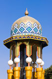 Colorful mosaic of an oriental roof. With white balls Royalty Free Stock Images