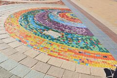 Colorful mosaic in the park guell