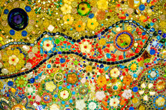 Colorful mosaic pattern background. Made from ceramic Stock Image